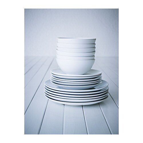 FRGRIK 18 piece Service Whitestoneware IKEA