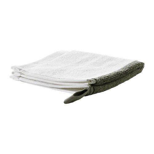 IKEA FÄRGLAV washcloth The long, fine fibres of combed cotton create a soft and durable towel.