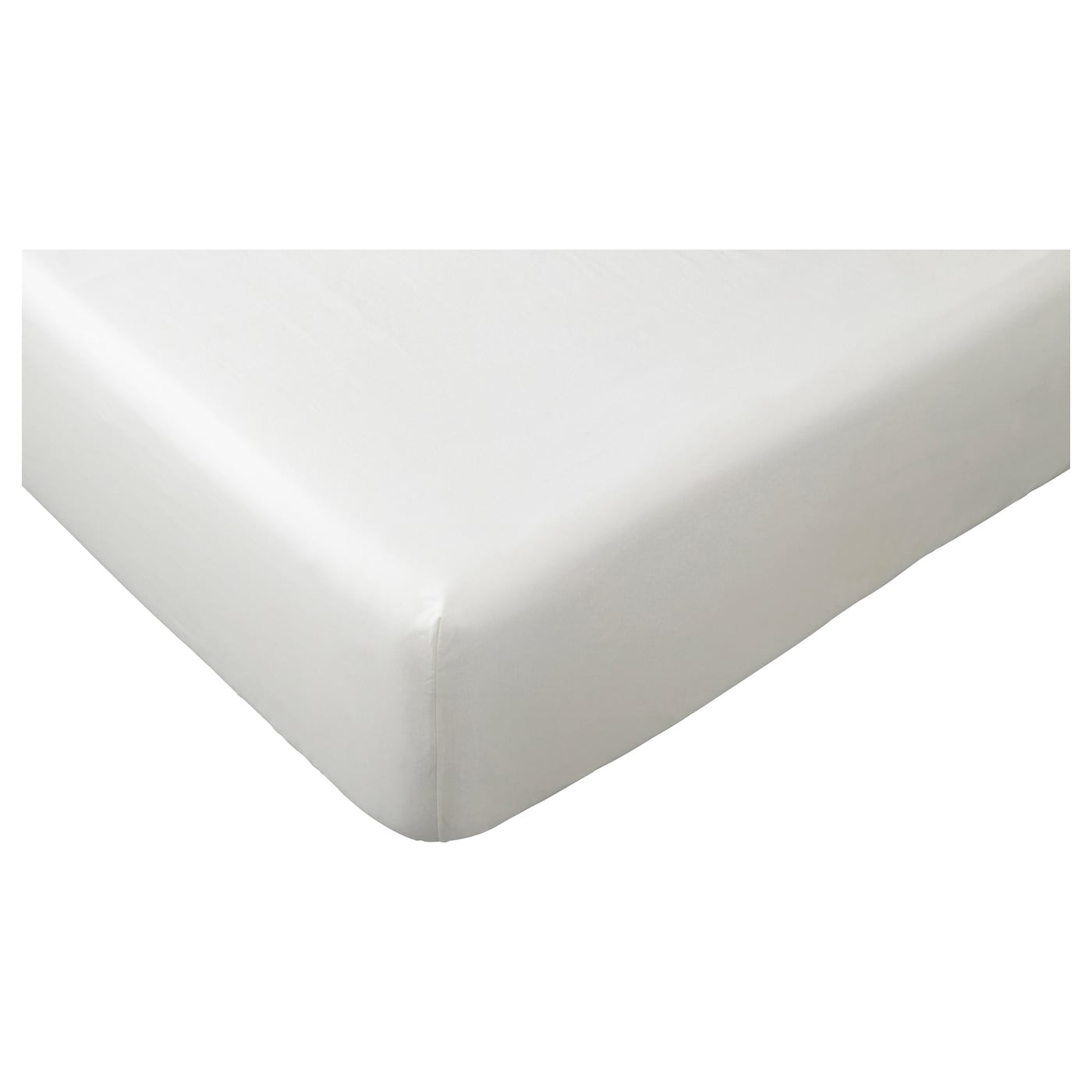 IKEA FÄRGMÅRA fitted sheet Cotton, feels soft and nice against your skin.