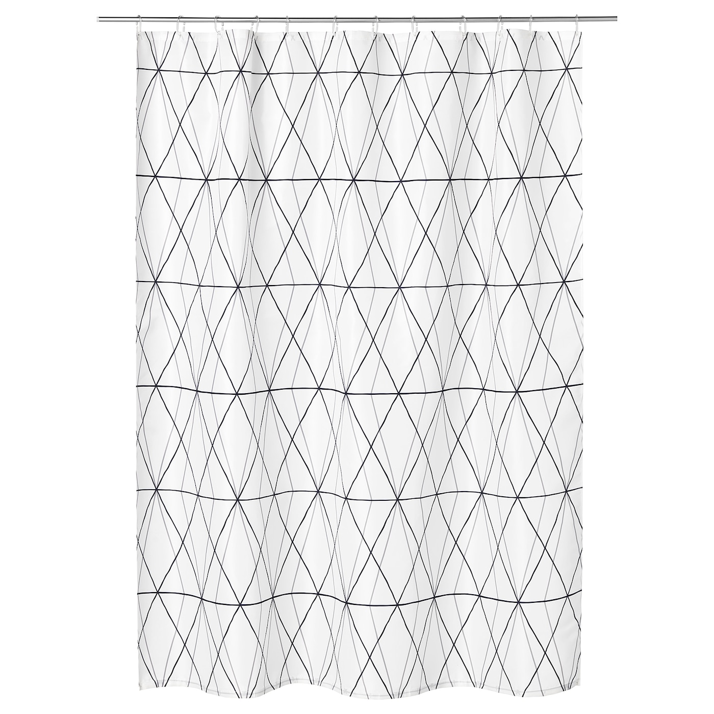 IKEA FÖLJAREN shower curtain Densely-woven polyester fabric with water-repellent coating.