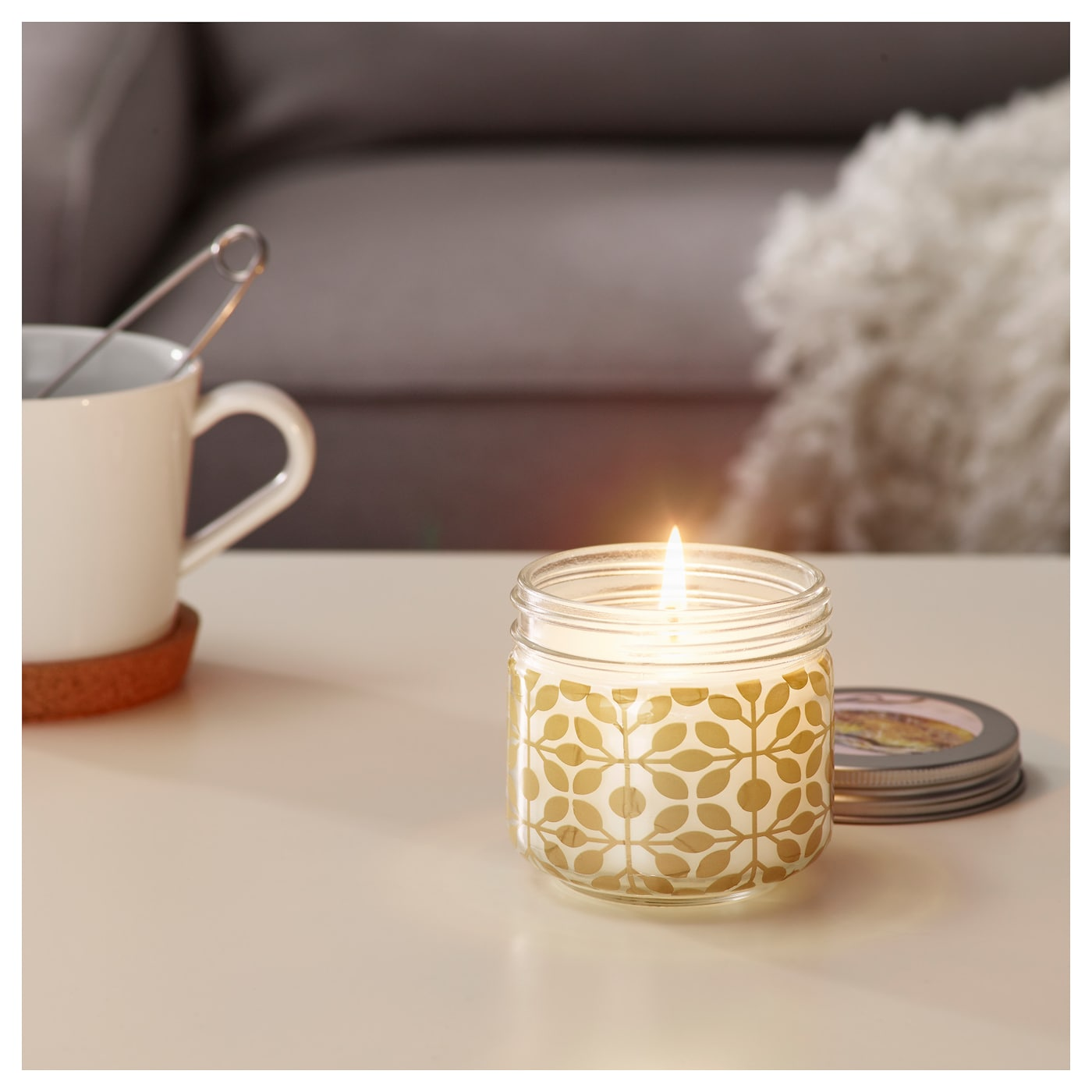 IKEA FÖRLIKA scented candle in glass