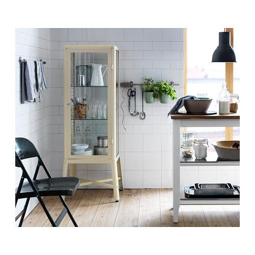 Utrusta Ikea Fjärrkontroll Fungerar Inte ~ FABRIKÖR Glass door cabinet Beige 57×150 cm  IKEA