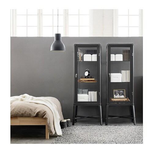 Ikea Kitchen Island Toronto ~ FABRIKÖR Glass door cabinet Dark grey 57×150 cm  IKEA