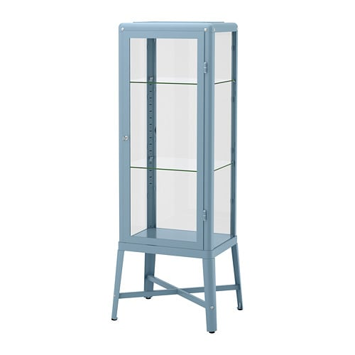 Fabrikör Glass Door Cabinet Blue 57 X 150 Cm Ikea