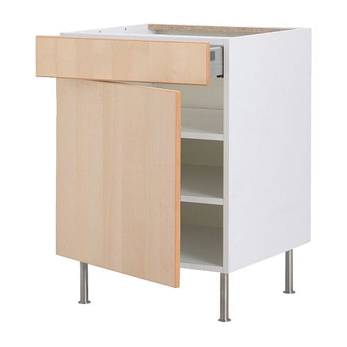 FAKTUM Base cabinet w shelf/drawer/door IKEA Fully-extending drawer; for easy overview and access to the contents.