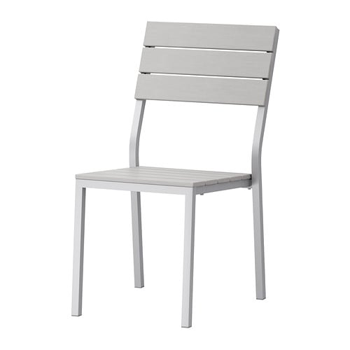 IKEA FALSTER chair, outdoor Can be stacked, which helps you save space.