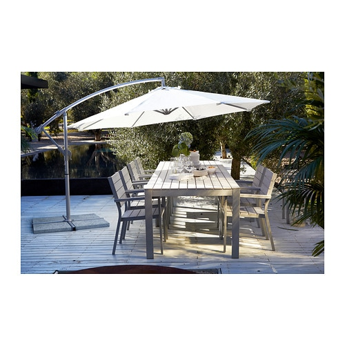 falster table outdoor grey 160x100 cm ikea. Black Bedroom Furniture Sets. Home Design Ideas