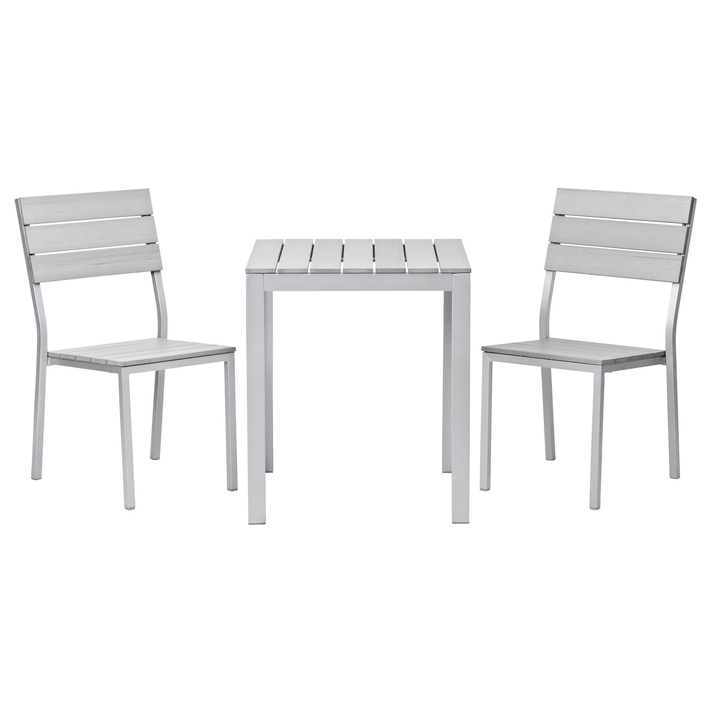 falster table 2 chairs outdoor grey ikea. Black Bedroom Furniture Sets. Home Design Ideas