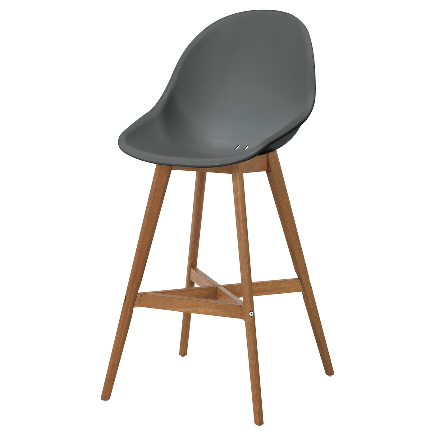 IKEA FANBYN bar stool with backrest You sit comfortably thanks to the shaped back and armrests.