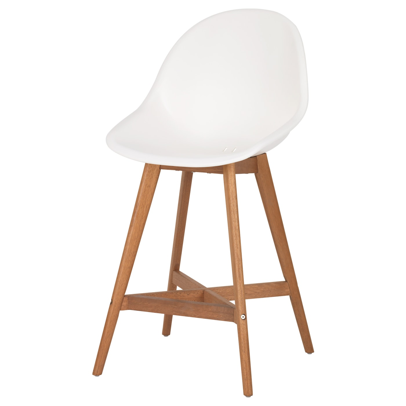 Fanbyn Bar Stool With Backrest White 64 Cm Ikea
