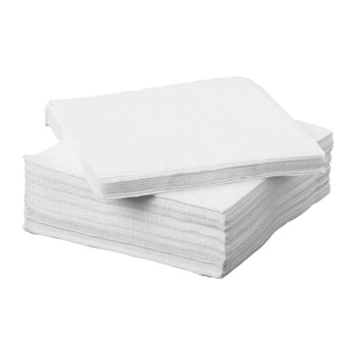 IKEA FANTASTISK paper napkin The napkin is highly absorbent because it's made of three-ply paper.