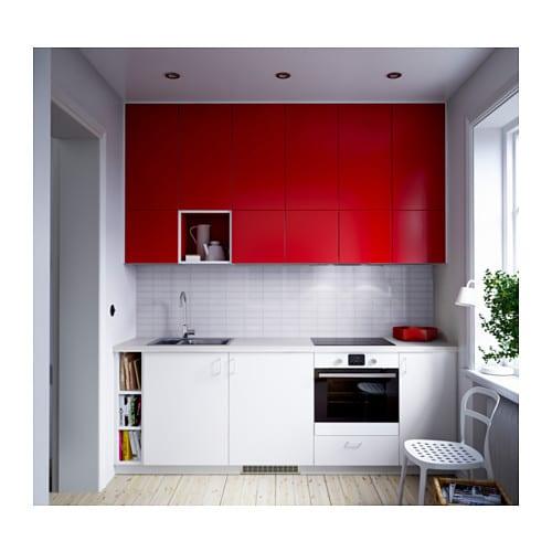 FASTBO Wall Panel Double Sided Red/tile Pattern White