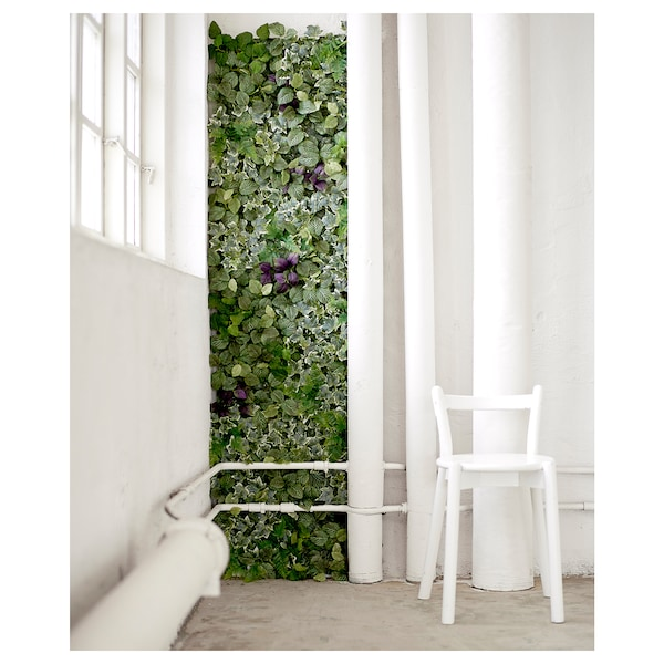 FEJKA artificial plant wall mounted/in/outdoor green/lilac 26 cm 26 cm