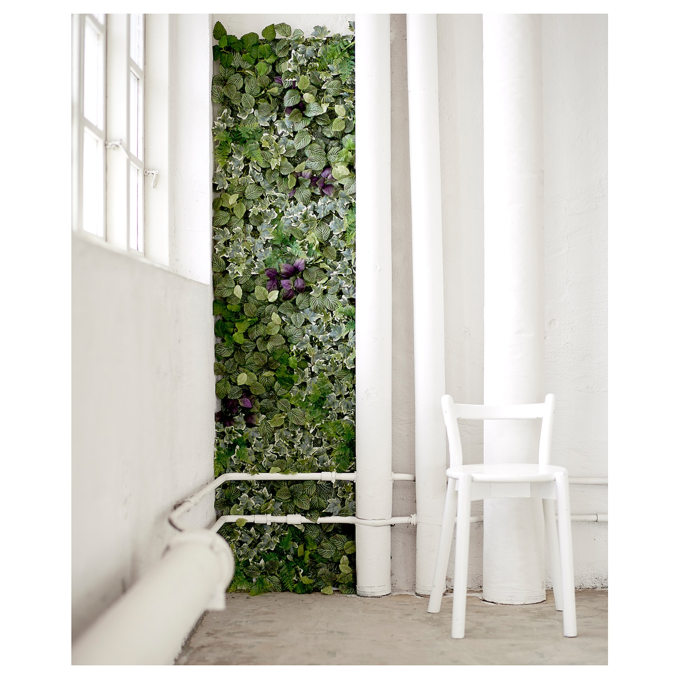 IKEA FEJKA artificial plant The plant wall panels are easy to connect with a simple click-solution.