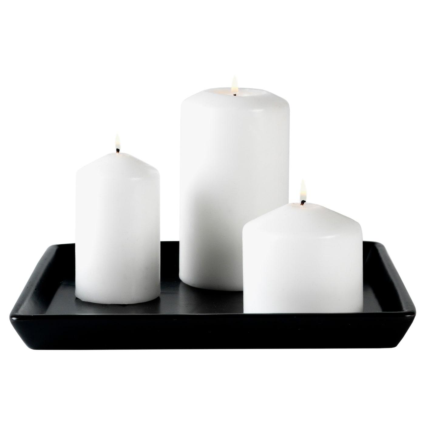 fenomen unscented block candle set of 5 white ikea