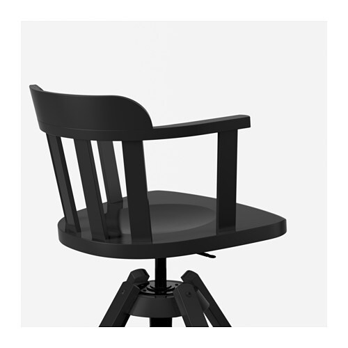IKEA FEODOR swivel chair with armrests You sit comfortably since the chair is adjustable in height.