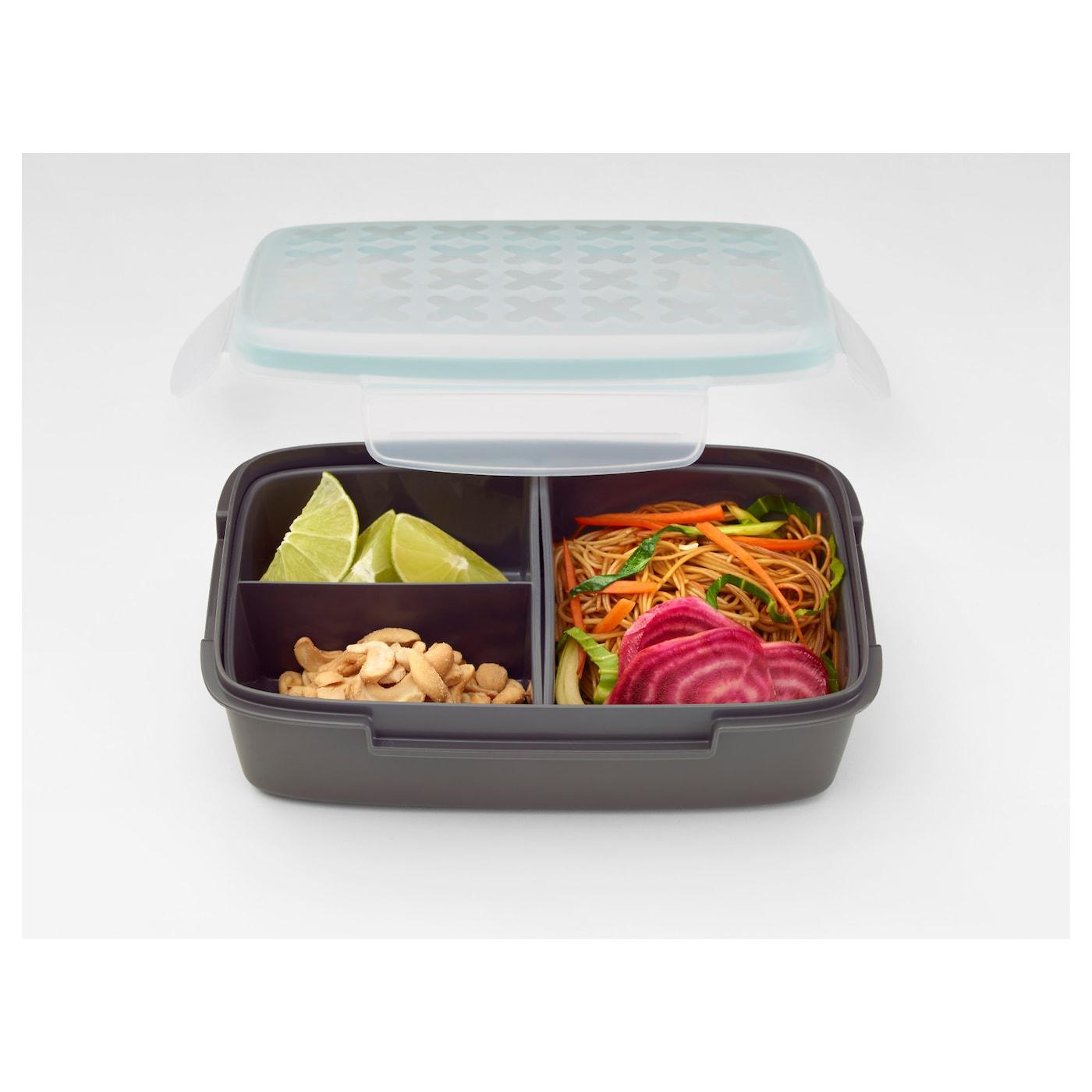 FESTMÅLTID Lunch Box Grey 22x14x7 Cm