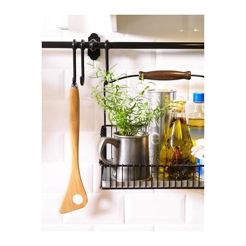 Ikea Kitchen Hanging Rail: FINTORP Rail Black 79 Cm