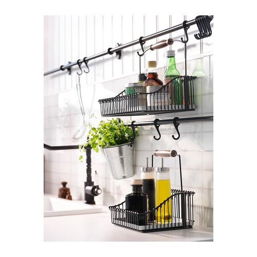 Fintorp rail black 79 cm ikea Ikea hanging kitchen storage