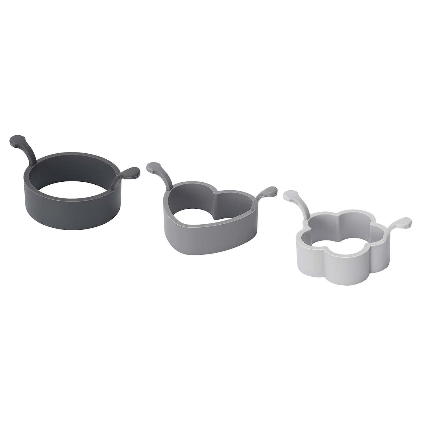 IKEA FISKBEN 3-piece cooking mould set Easy to lift since the moulds have 2 small handles.