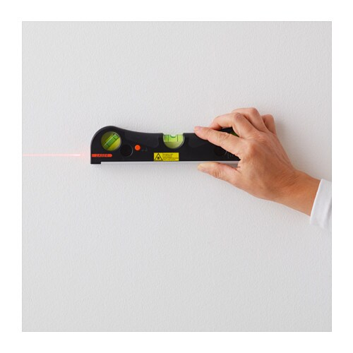 IKEA FIXA laser spirit level Can be used both as a laser leveller or as a traditional spirit level.