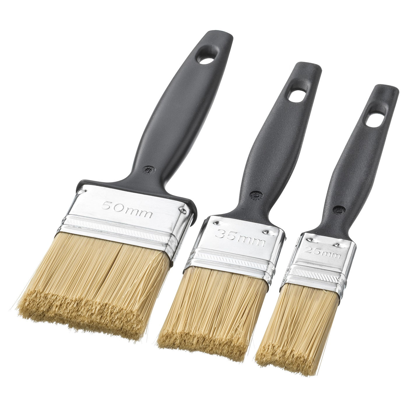 IKEA FIXA paint brush set You can use the brush for both water- and oil-based paint.