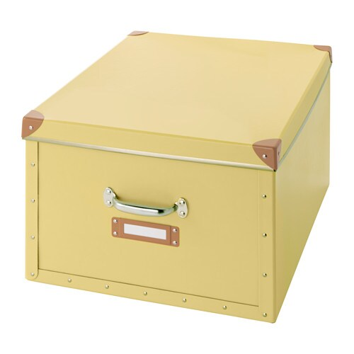 IKEA FJÄLLA box with lid Suitable for bulky items like blankets, quilts and games.