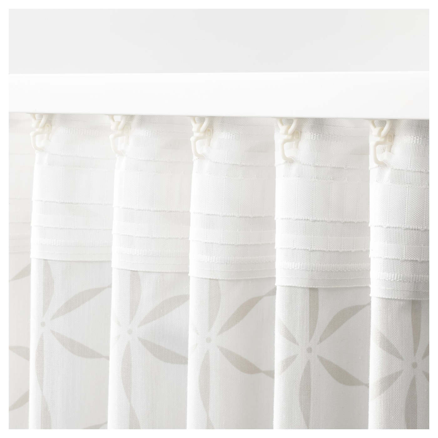 IKEA FJÄLLBINKA curtains, 1 pair The curtains can be used on a curtain rod or a curtain track.