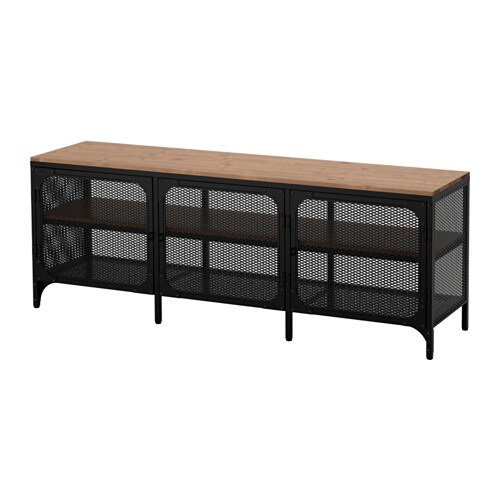 Fjällbo Tv Bench Black 150 X 36 X 54 Cm Ikea