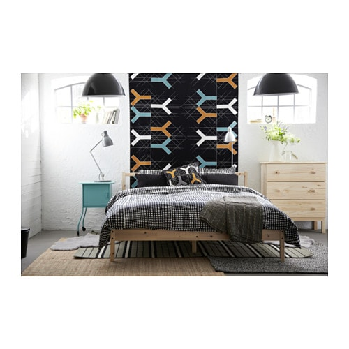 fjellse bed frame pine lur y standard double ikea. Black Bedroom Furniture Sets. Home Design Ideas