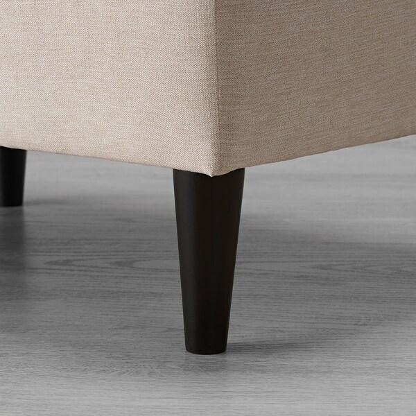 FLÄCKEBO Footstool, light beige