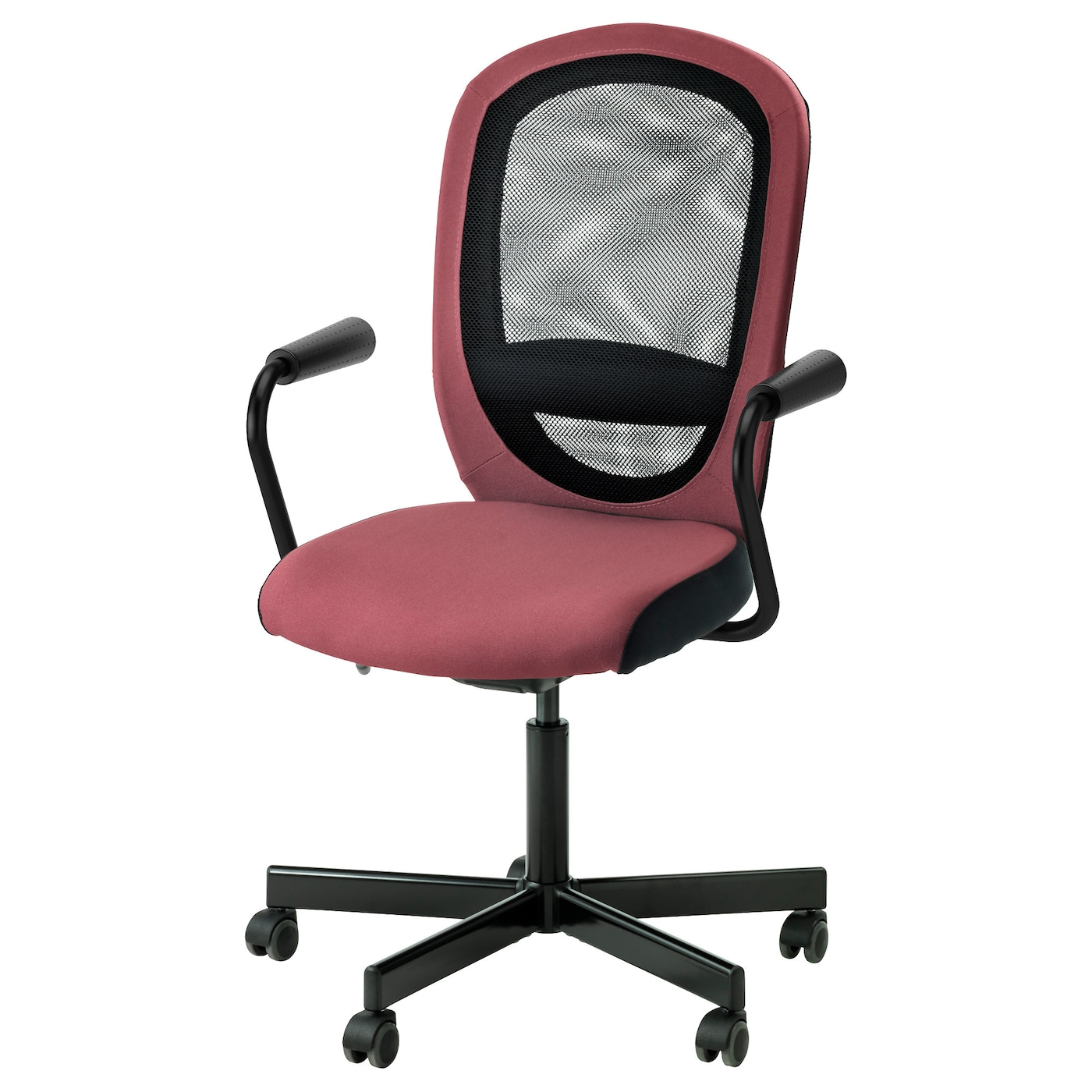 IKEA FLINTAN/NOMINELL swivel chair with armrests Relieves strain on your arms and shoulders.