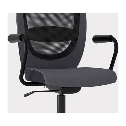 Flintan nominell swivel chair with armrests grey ikea - Sedia rotelle ikea ...