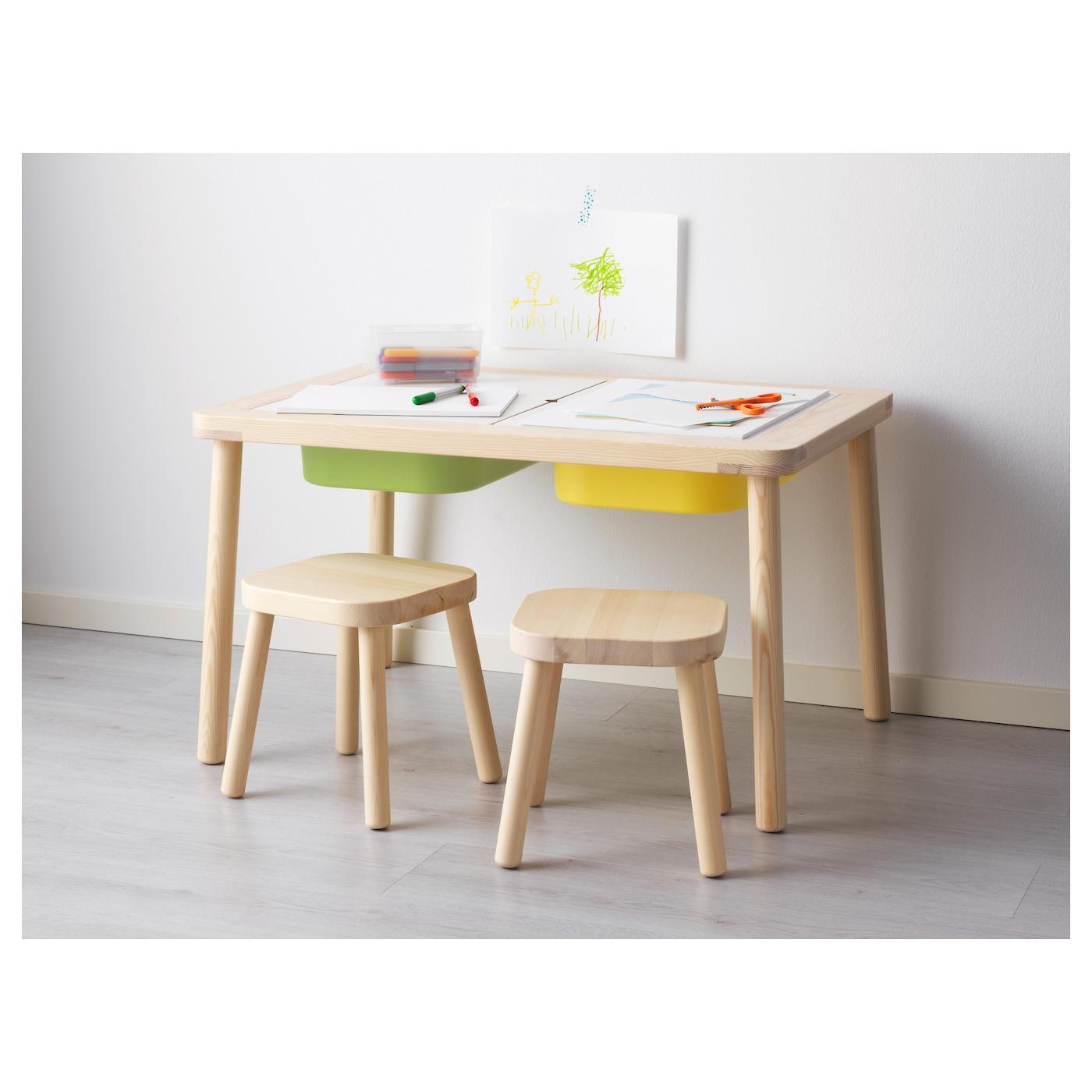Flisat children 39 s table 83x58 cm ikea for Ikea drawing desk