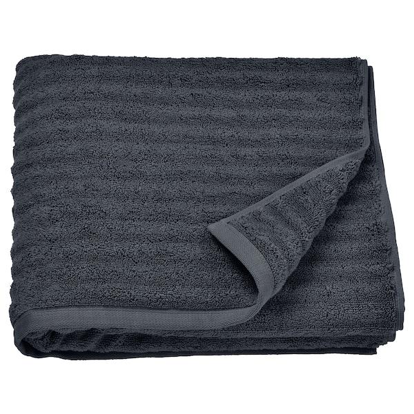 FLODALEN bath towel dark grey 700 g/m² 140 cm 70 cm 0.98 m²
