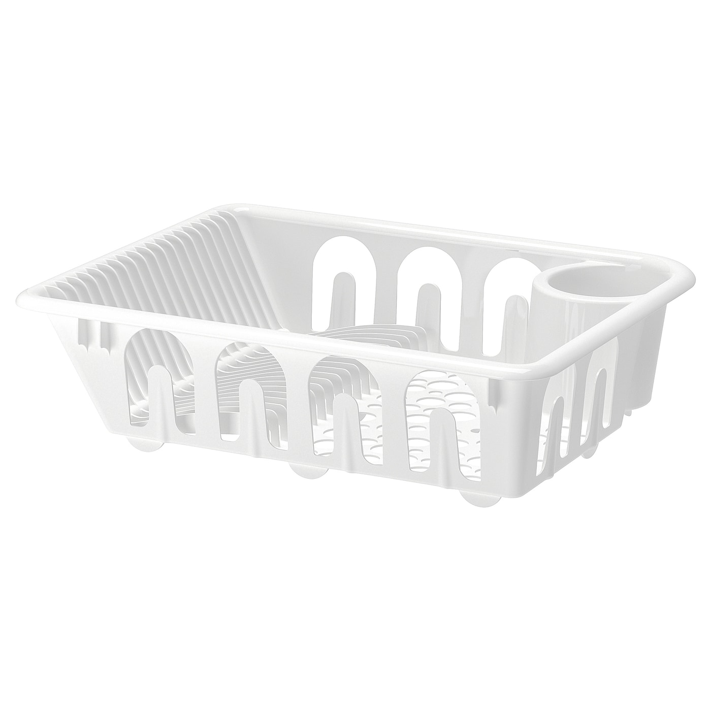 IKEA FLUNDRA dish drainer Holds large plates with a dia. up to 32 cm as well.