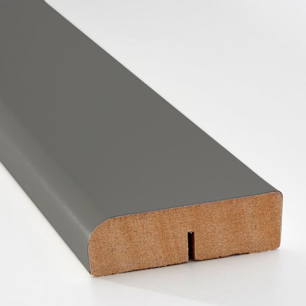 FÖRBÄTTRA rounded deco strip/moulding dark grey 221 cm 6.1 cm 1.9 cm