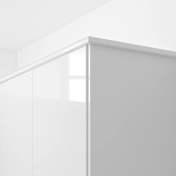 FÖRBÄTTRA rounded deco strip/moulding high-gloss white 221 cm 6 cm 2 cm
