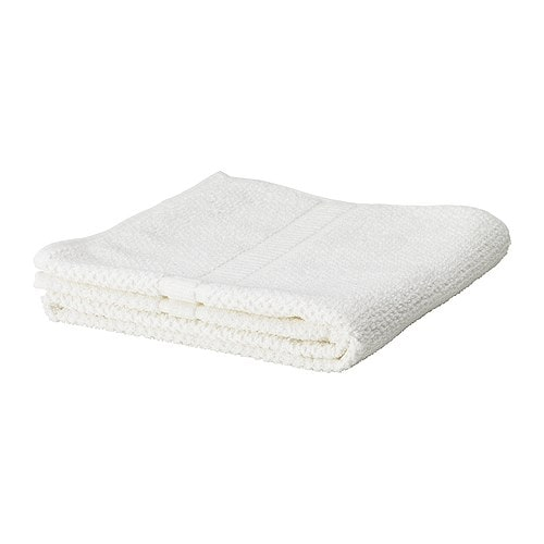 IKEA FRÄJEN washcloth The long, fine fibres of combed cotton create a soft and durable towel.