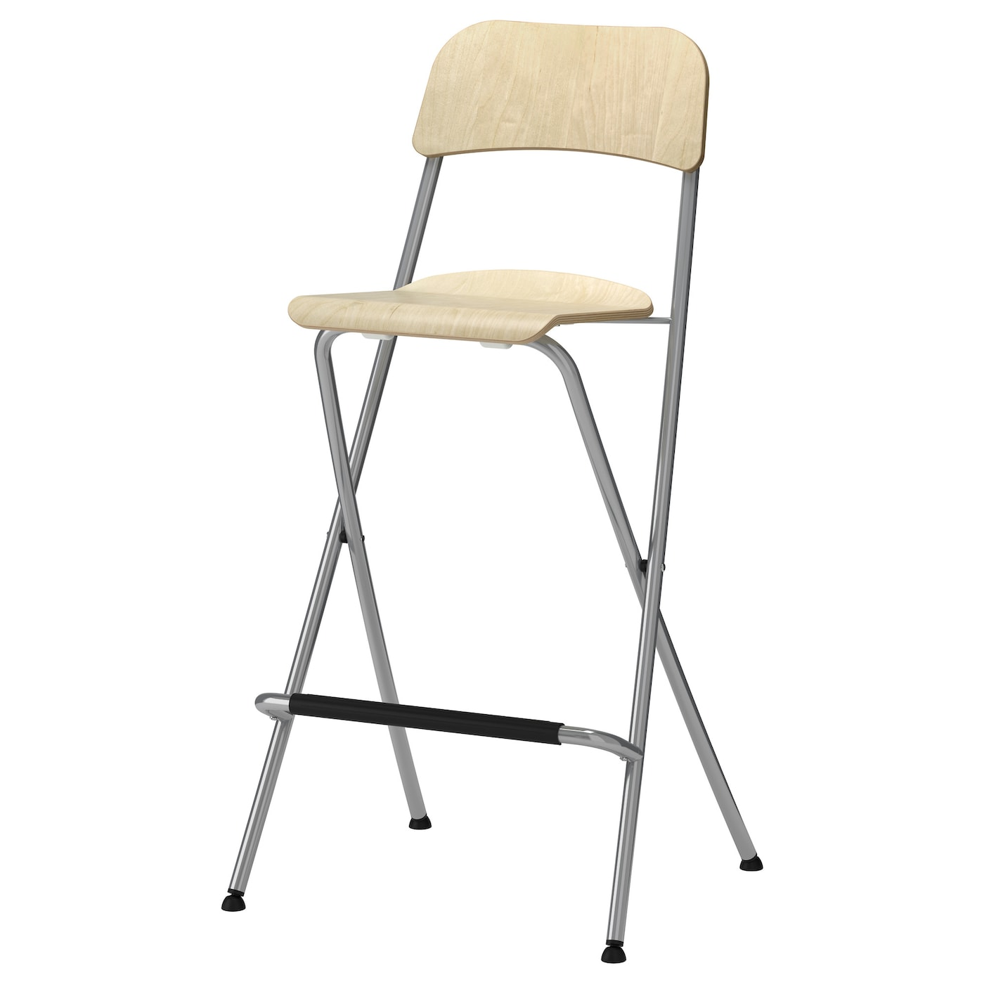 IKEA FRANKLIN bar stool with backrest foldable With footrest for relaxed sitting posture.  sc 1 st  Ikea & FRANKLIN Bar stool with backrest foldable Birch veneer/silver ... islam-shia.org