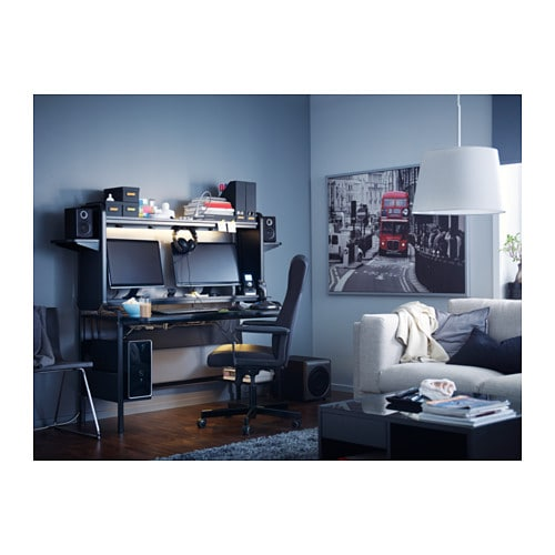FREDDE Workstation Black 185x140x74 cm - IKEA