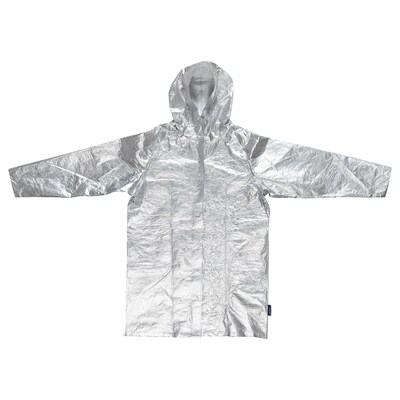 FREKVENS raincoat silver-colour 110 cm 128 cm