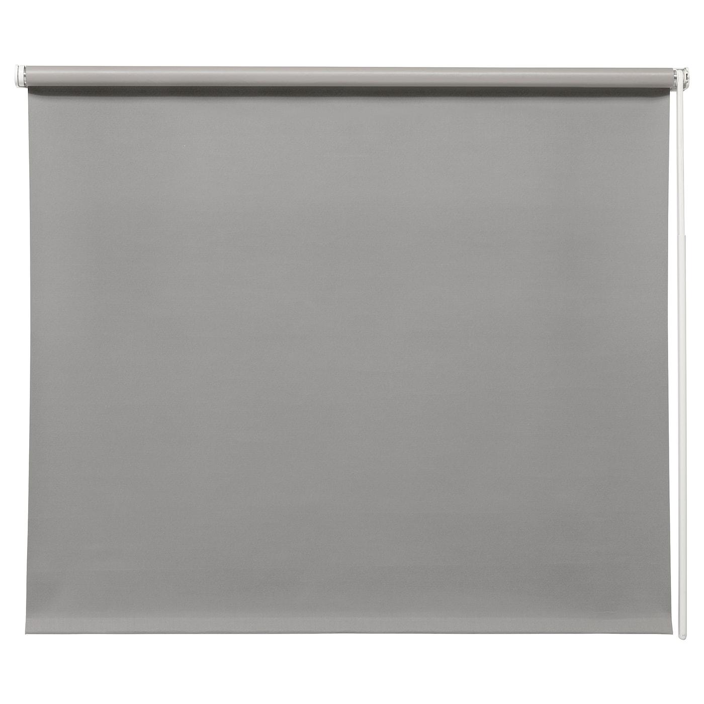 Fridans Block Out Roller Blind Grey 140 X 195 Cm Ikea