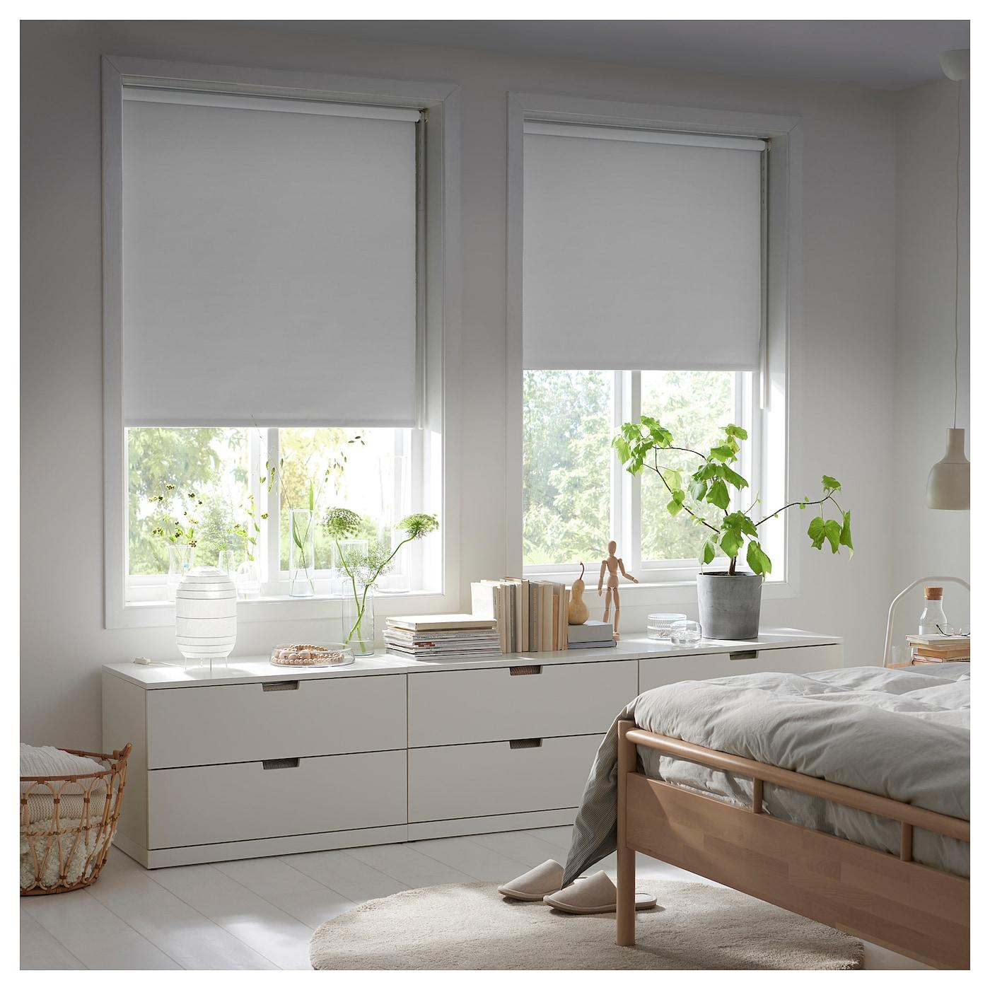 fridans block out roller blind white 80 x 195 cm ikea. Black Bedroom Furniture Sets. Home Design Ideas