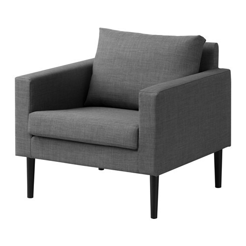 Friheten armchair skiftebo dark grey ikea for Sillon para una persona