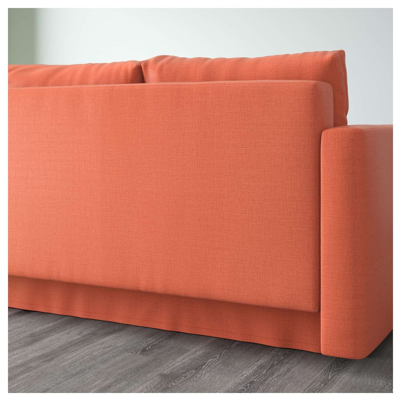 Friheten Corner Sofa Bed With Storage Skiftebo Dark Orange Ikea