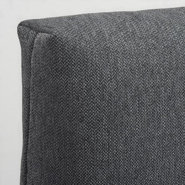 FRIHETEN Cushion, Hyllie dark grey, 67x47 cm