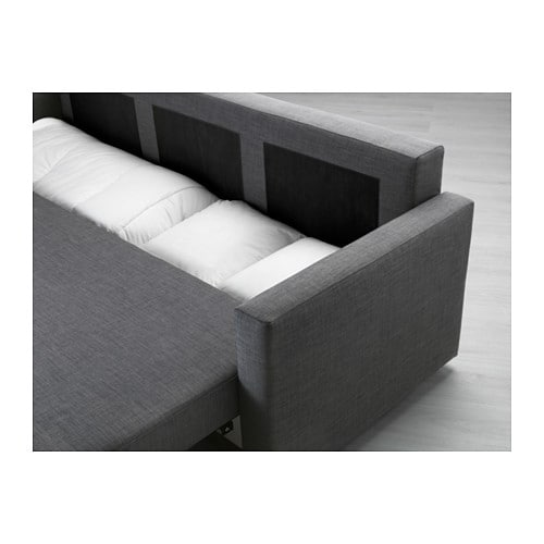 IKEA FRIHETEN Three Seat Sofa Bed Readily Converts Into A Bed.
