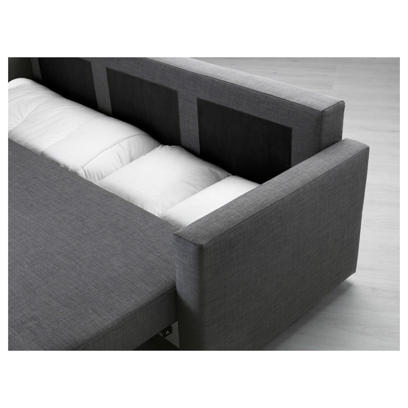 IKEA FRIHETEN Three Seat Sofa Bed Readily Converts Into A Bed.