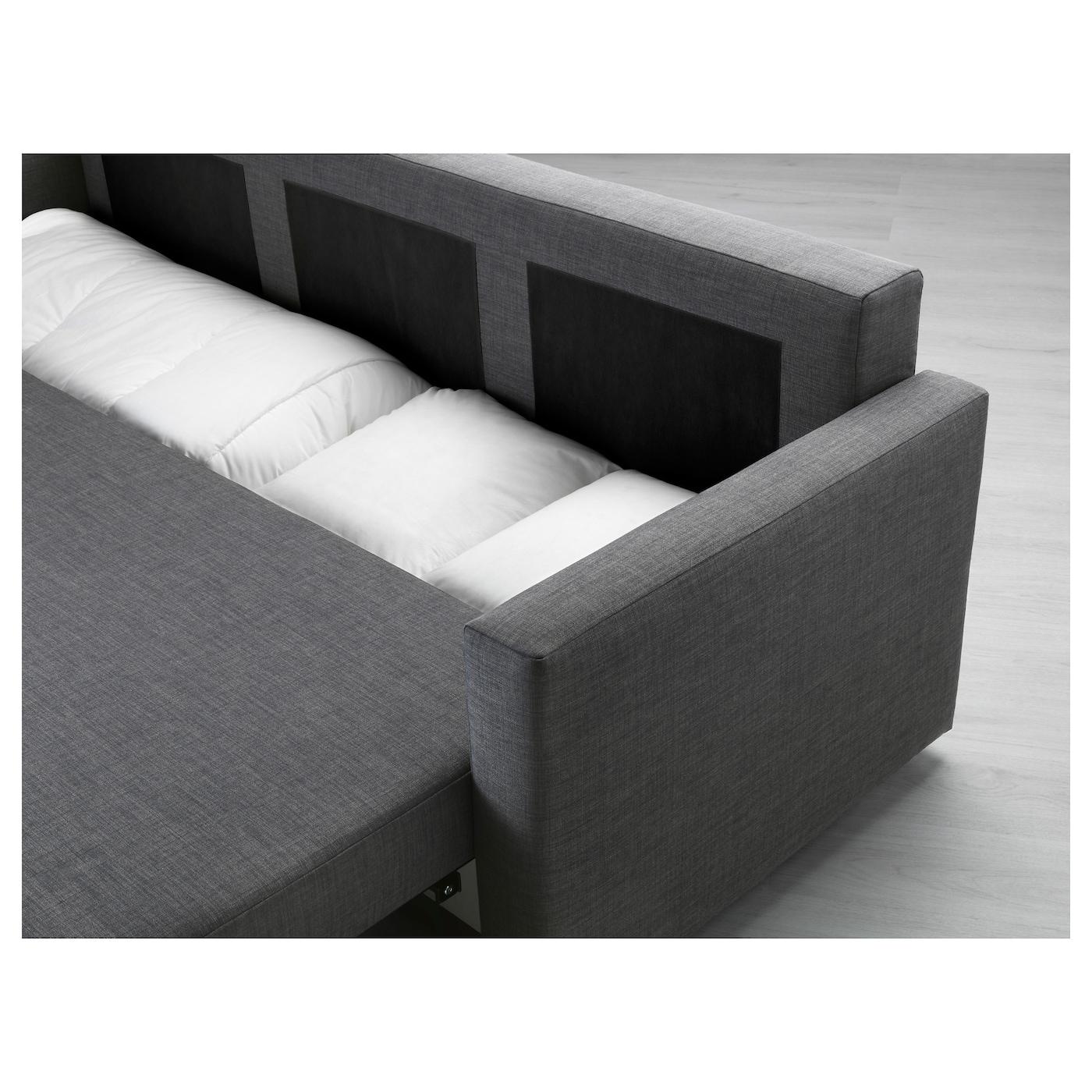 friheten three seat sofa bed skiftebo dark grey ikea. Black Bedroom Furniture Sets. Home Design Ideas